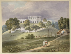 N21 The Hill House at Bhaughulpore built by Mr Clevland from the House of Dr Glas. Septr 1820